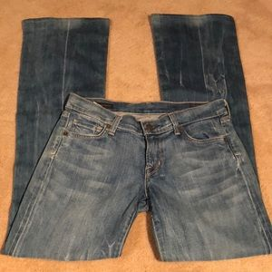 COH acid wash low waist bootcut jeans size 26